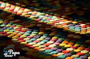 Fresh rug shone by sunlight